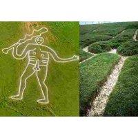 Gambar raksasa telanjang berumur ribuan tahun di North Dorset diyakini ...